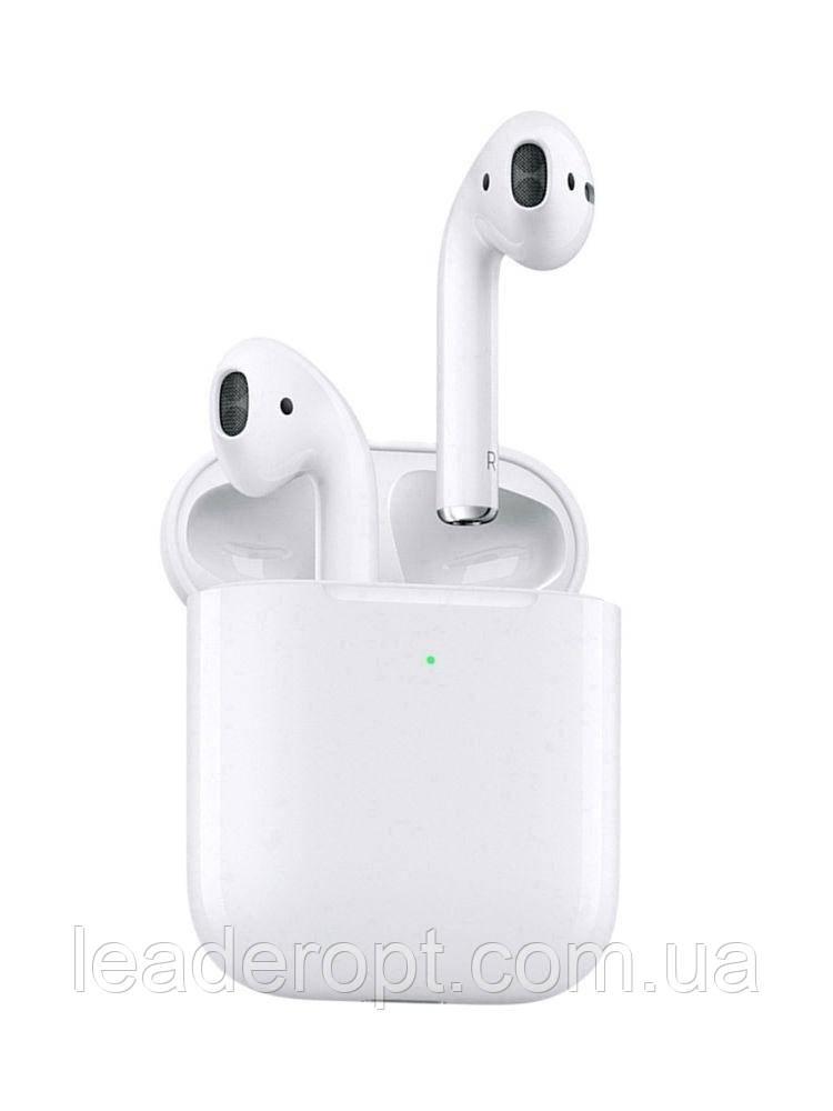 ОПТ Навушники люкс-копія бездротові Bluetooth Airpods 2 copy Airoha гарнітура біла