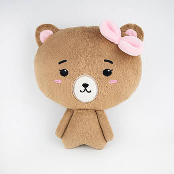 Мягкая игрушка Коричневый медвежонок девочка 20 см