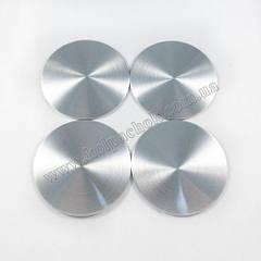 Наклейки для ковпачків на диски полірований метал 65мм