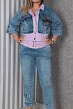 Жіночий спортивний костюм джинсовий великого розміру; Розміри:ХЛ(52-54),ХХЛ(54-56), 3ХЛ(56-58), фото 3