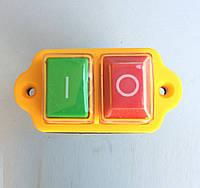 Кнопка бетономешалки (магнитный пускатель) 5 контактов желтая, фото 1