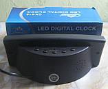 Часы настольные электронные Caixing CX-818 (черные, красные цифры), фото 2