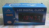 Часы настольные электронные Caixing CX-818 (черные, красные цифры), фото 3