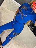 Женский трикотажный  спортивный костюм (Турция); Размеры:С,М,Л,ХЛ, фото 3