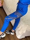 Женский трикотажный  спортивный костюм (Турция); Размеры:С,М,Л,ХЛ, фото 4
