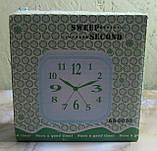 Часы настольные на батарейках AS-0031 (золотистые, 11 см диаметр), фото 2