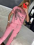 Женский трикотажный  спортивный костюм (Турция); Размеры:С,М,Л,ХЛ, фото 6