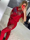 Женский трикотажный  спортивный костюм (Турция); Размеры:С,М,Л,ХЛ, фото 7