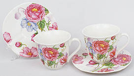 Кавовий набір Romantic Life E81 2 чашки 90мл і 2 блюдця