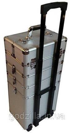 Большой косметический чемодан 4-ох секционный