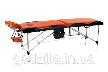 Массажный стол двух-сегментный алюминиевый  Двухцветный