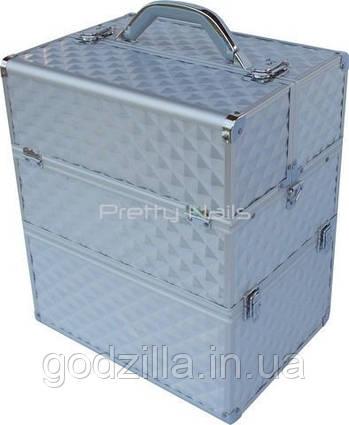 Косметический кейс NS06 silver 3D  35 x 25 x 40 cм