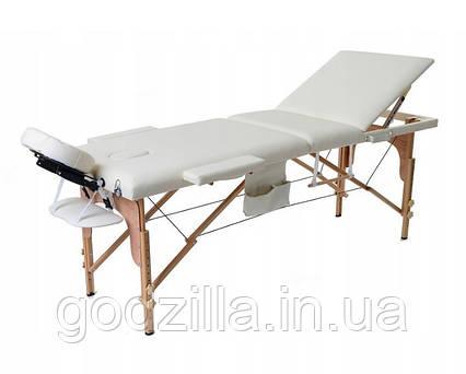 Массажный стол  трех-сегментный деревянный 4 цвета