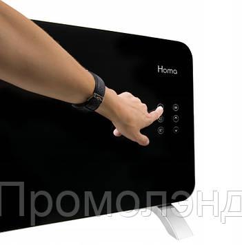 Обігрівач Homa 2000W Скляна панель, Сенсорне управління + Пульт / Чорний