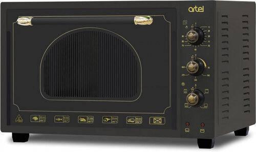 Електродуховка ARTEL MD-3618L Retro Black (36л,конвекція,підсвітка,4 режиму), фото 2