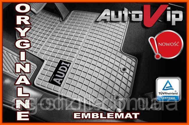 Резиновые коврики AUDI Q5 2009- серые с лого