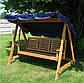 Садовые деревянные качели EDEN трехместные, фото 3