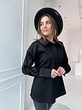 Женская рубашка из плотной ткани 3 цвета! 13-381, фото 3