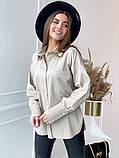 Женская рубашка из плотной ткани 3 цвета! 13-381, фото 4