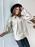 Женская рубашка из плотной ткани 3 цвета! 13-381, фото 6
