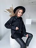 Женская рубашка из плотной ткани 3 цвета! 13-381, фото 7
