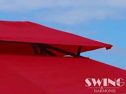 Павильон Swing & harmonie 3 х 4 м красный с LED подсветкой от солнечной батареи, фото 2
