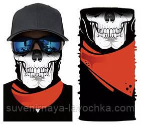 Мото баф Pioneer Skull. Якісна маска на обличчя