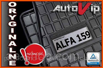 Гумові килимки ALFA ROMEO 159 05-11 з логотипом