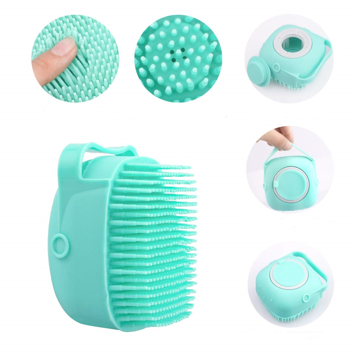 ОПТ Силіконова масажна щітка для ванни Silicone Massage Bath Brush