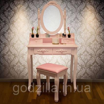 Туалетный столик Мира  розового цвета