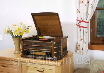 Универсальный ретро проигрыватель пластинок, дисков, кассет, SD, USB