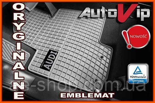 Гумові килимки AUDI A1 2010 - сірі з лого, фото 2