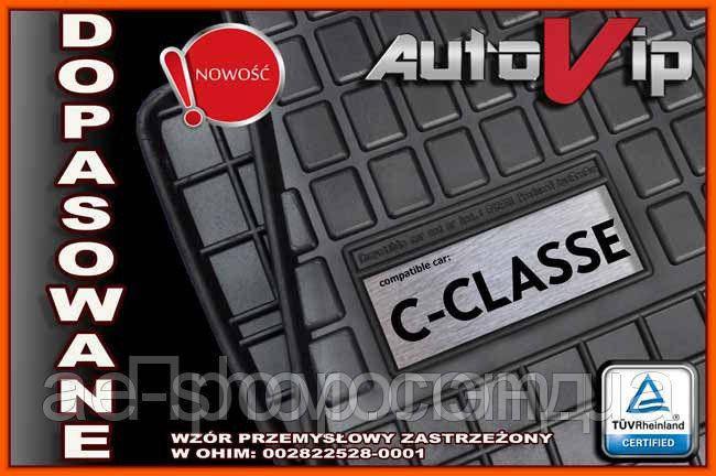 Гумові килимки MERCEDES W202 W203 W204 з логотипом
