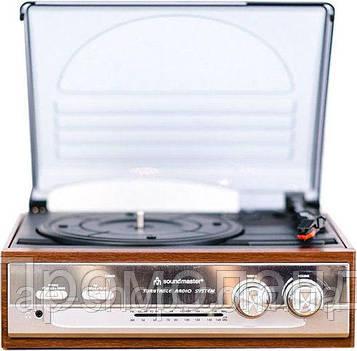 Граммофон Soundmaster PL 186H с радио и динамиками. 30 Вт