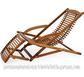 Кресло лежак из дерева Акации