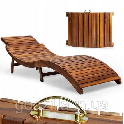 Лежак для сада из дерева акации Ergo