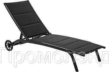 Лежак для сада алюминиевый IBIZA BLACK / BLACK