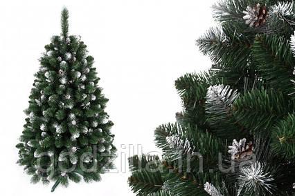 """Сосна """"Сибирская"""" на пластиковой подставке + гирлянда в подарок"""