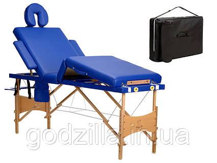Массажный стол 4-сегментный деревянный  2 цвета