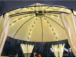 Круглий павільйон Swing & harmonie 3.5 м червоний з освітленням LED, фото 2