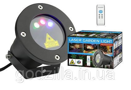 Лазерный проектор RGB 8в1  3 цвета + пульт