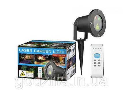 Лазерный проектор 2 цвета RG 8в1 - елки, снежинки, снеговики