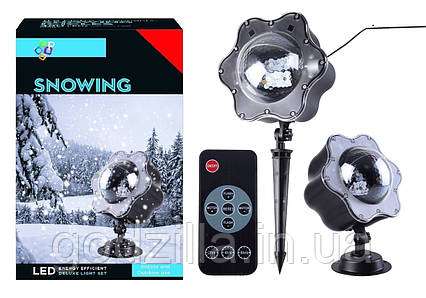 LED Проектор падающий снег