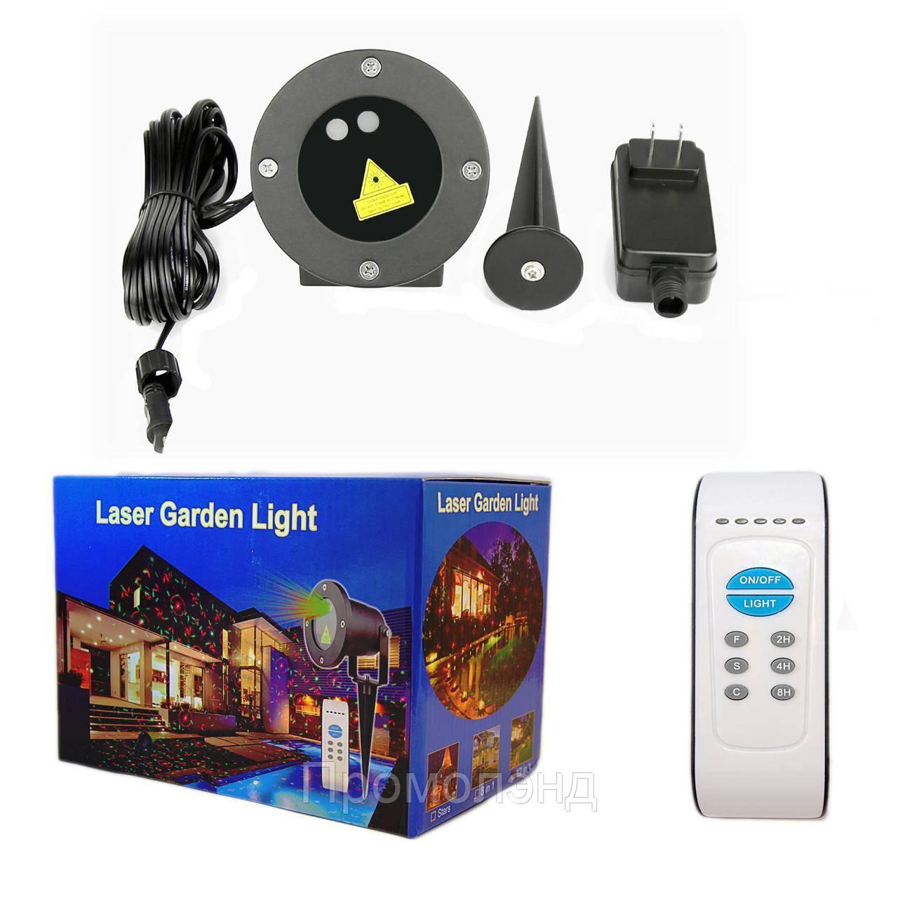 Лазерний проектор RG 8в1 два кольори + пульт