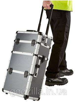 Алюминиевый  косметический чемодан 3в1