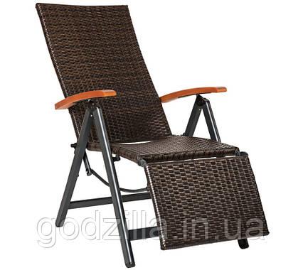 Раскладное кресло из полиротанга 3 цвета