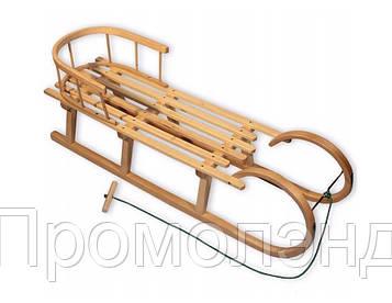 Санки деревянные WOOD ROGI со спинкой