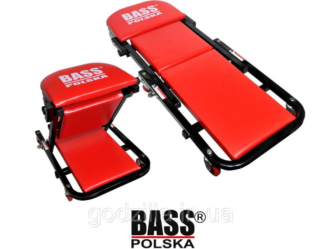 Візок табурет лежак підкатний Bass Polska для механіка