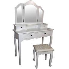 Туалетний столик Fiona 3 дзеркала і табурет, фото 2