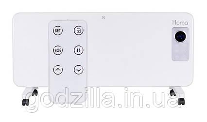 Обогреватель Homa PH-2023 LED 2000W Стеклянная панель, Сенсорное управление + Пульт / Белый